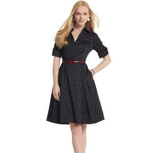 White House Black Market Polka Dot Shirt Dress